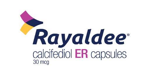 Rayaldee (calcifediol) ER capsules, 30 micrograms.