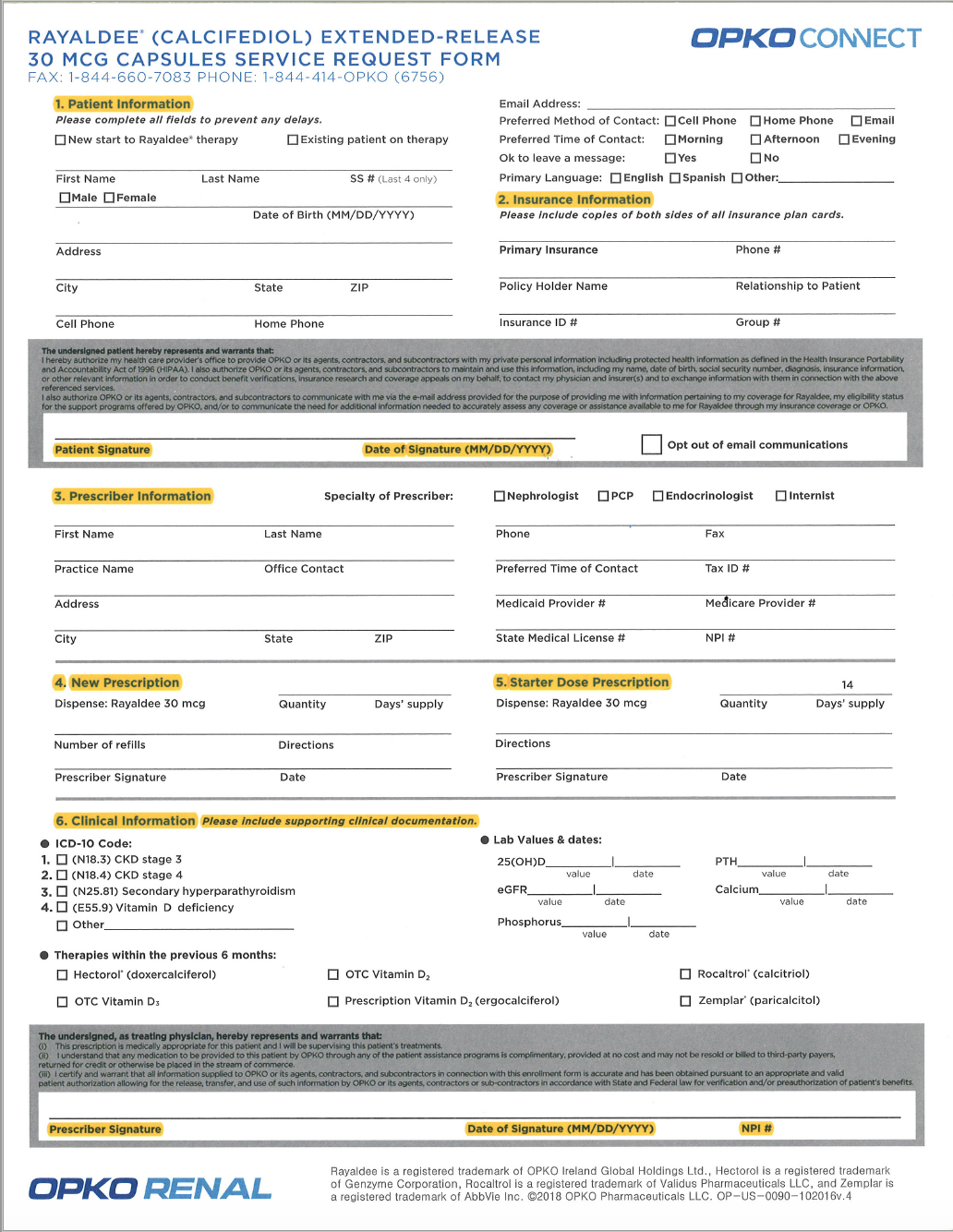 PDF image of form